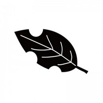 枯葉・落ち葉のシルエット | 無料のAi・PNG白黒シルエットイラスト