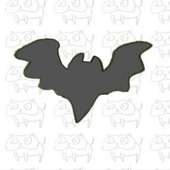 コウモリのシルエットのイラスト | ゆるくてかわいい無料イラスト素材屋「ぴよたそ」