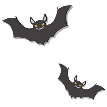 [無料イラスト] 二匹のコウモリ - パブリックドメインQ:著作権フリー画像素材集