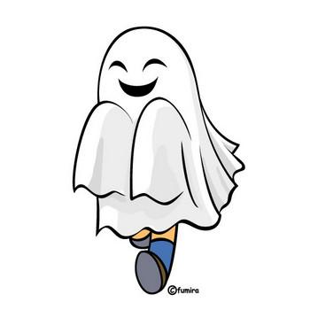 ハロウィン/ハロウィンの仮装・ゴースト | 子供と動物のイラスト屋さん わたなべふみ