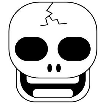 お化け、ガイコツのイラスト   Illustcut.com