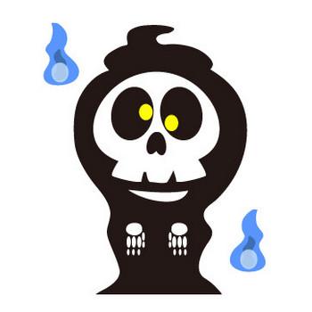 ガイコツ(死神)のフリー素材 WEB・ホームページ素材、イラスト、壁紙、写真が無料でダウンロード