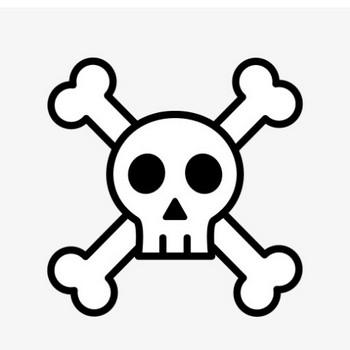 ドクロ・骸骨・毒の漫符のフリーイラスト画像素材【商用無料】   アイキャッチャー