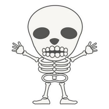 骸骨|無料|キャラクター|クリップアート