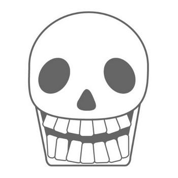 骸骨 ドクロマーク 頭蓋骨 骨 恐怖 マスク 死者 フリークリップアート素材 イラスト 挿し絵 画像ダウンロード