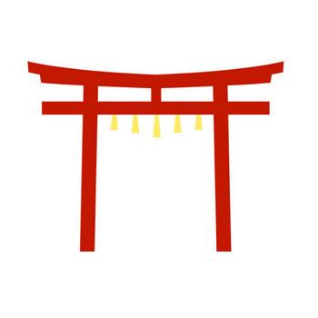 神社 鳥居 無料イラスト クリップアート素材 絵