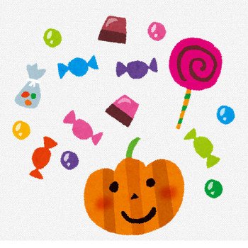 ハロウィンのイラスト「お菓子・キャンディー・チョコレート」 | かわいいフリー素材集 いらすとや