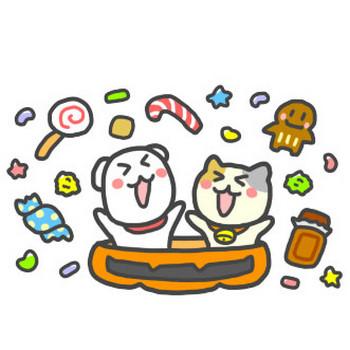 ハロウィン かぼちゃ お菓子 フリーイラスト 無料 | ビヨビヨ イラスト工房