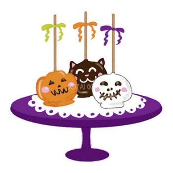 かわいいハロウィンお菓子(ロリポップケーキ)無料イラスト54478 | 素材Good