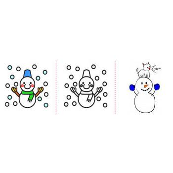「雪だるま」イラスト無料