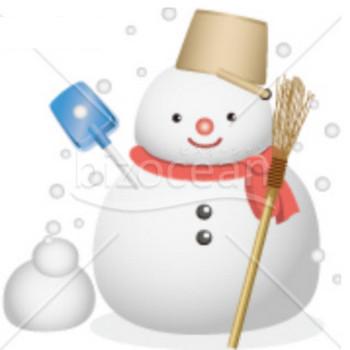 赤いマフラーをした雪だるまイラスト テンプレートのダウンロードは【書式の王様】