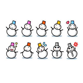 12月、冬のイラスト:雪だるま フリー素材 素材のプチッチ