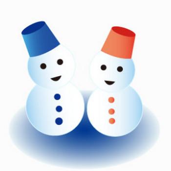 雪だるまのイラスト素材   イラスト素材パラダイス 商用利用無料のイラスト素材