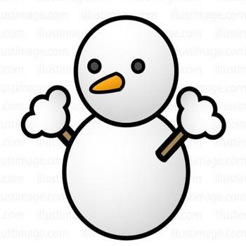 雪マークの無料イラスト素材 イラストイメージ