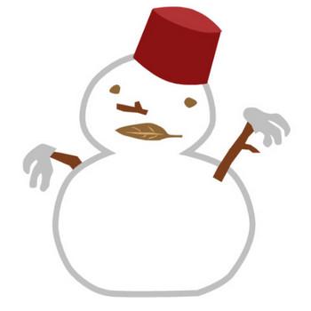 雪だるまの無料イラスト(オーフリー写真素材)
