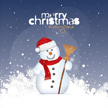 Free Vector がらくた素材庫: 雪だるまのイラスト Christmas Snowman Vector Graphic