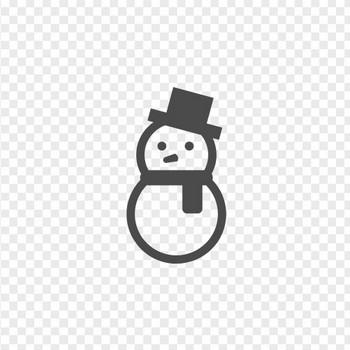 雪だるまのフリーイラスト5   アイコン素材ダウンロードサイト「icooon-mono」   商用利用可能なアイコン素材が無料(フリー)ダウンロードできるサイト