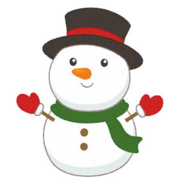 可愛い雪だるま(スノーマン)のイラスト   無料フリーイラスト素材集【Frame illust】