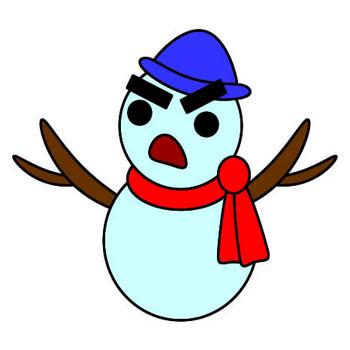 雪だるまのイラスト フリーイラスト素材 変な絵.net