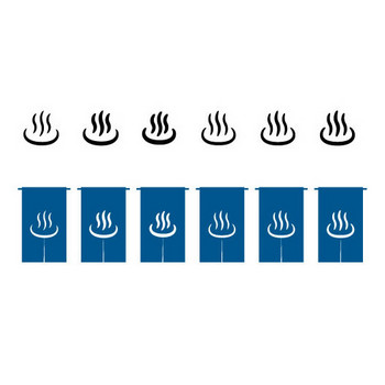 温泉マーク | シルエットデザイン