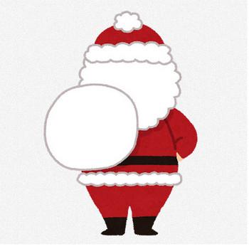 サンタクロースのイラスト(全身・後ろ姿) | かわいいフリー素材集 いらすとや