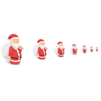 クリスマス-サンタクロース - アイコン素材