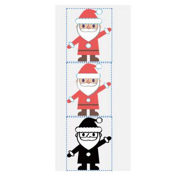 » サンタクロースのイラスト / サンタさんの顔と全身、プレゼントの袋でフレーム | 可愛い無料イラスト素材集