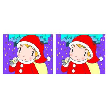 無料 四季・季節行事・祝日祭日のイラスト - (クリスマスイヴ・サンタクロース・子供・キッズ・町・オーロラ・聖夜)