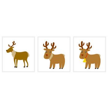 トナカイのクリスマスカードの無料イラスト素材|イラストイメージ