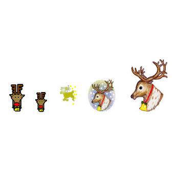 サンタクロースイラスト素材とアニメgif 素材屋じゅん-クリスマス素材―アイコン・フリー素材・犬のサンタクロース・トナカイ