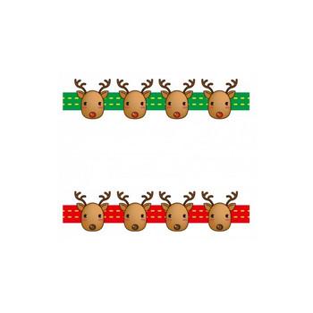 クリスマス・トナカイのフレーム・枠素材02 | イラスト無料・かわいいテンプレート