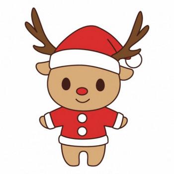 サンタ服を着たトナカイのイラスト - 無料イラストのIMT 商用OK、加工OK