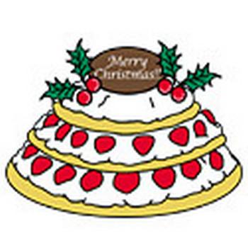 クリスマスケーキ フリーイラスト集 無料素材 | ペーパーミュージアム
