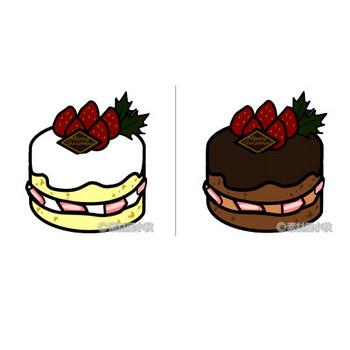 クリスマスケーキのイラスト | 素材屋小秋