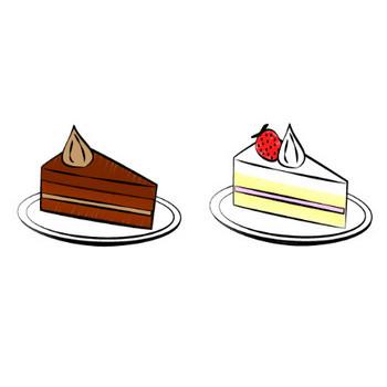 ケーキの無料イラスト