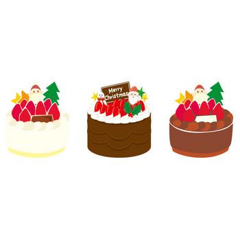 [フリーイラスト] 8種類のクリスマスケーキのセットでアハ体験 - GAHAG | 著作権フリー写真・イラスト素材集