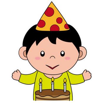 イラストポップの幼児教育素材| 12月No07クリスマスケーキを前にした男の子の無料イラスト