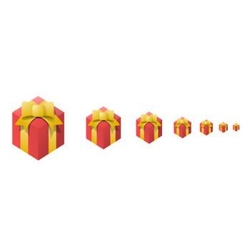 プレゼント-RED - アイコン素材