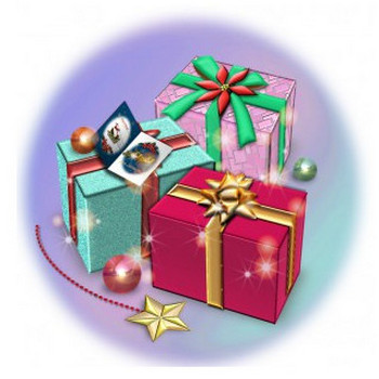 クリスマスプレゼントの箱   イラストが無料の【DDばんく】