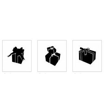 クリスマスプレゼント|シルエット イラストの無料ダウンロードサイト「シルエットAC」