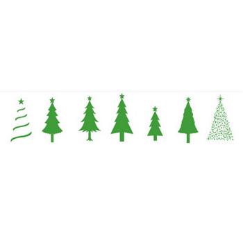 クリスマスツリー素材 | シルエットデザイン
