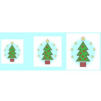 クリスマスツリー3/クリップアート(web用イラスト素材)/クリスマス素材サンタ館
