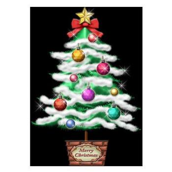 普通のクリスマスツリー | イラストが無料の【DDばんく】