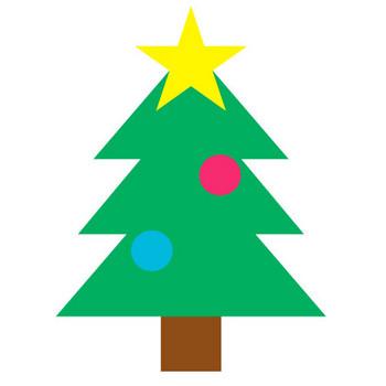 432 クリスマスツリー/Christmas tree.gif - 素材庭園(フリーイラスト素材集) ~花・動物・食べ物・人物・雑貨他