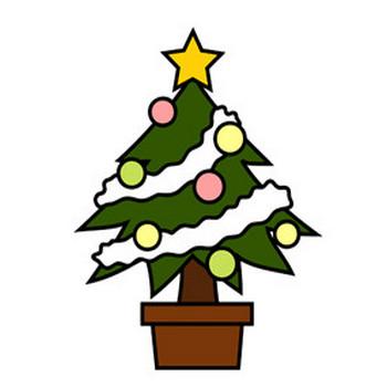 クリスマスツリー - 素材【クリップアート】 - 彩クリWEB