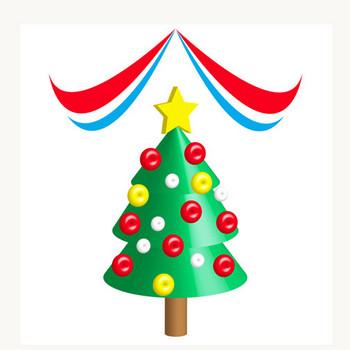 3Dで描いたクリスマスツリー★パーティー飾り木 | 無料イラスト配布サイトマンガトップ