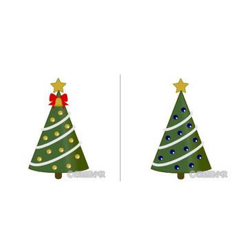 クリスマスツリーのイラスト | 素材屋小秋