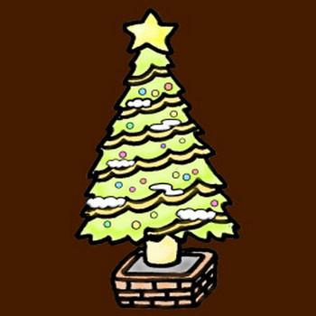 クリスマスツリーの素材イラスト | イラスト素材:パンコス