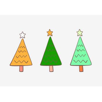 手書きのクリスマスツリーイラスト – クリスマス・ハロウィン、お正月イラストEVENTs Design
