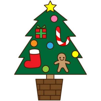 シンプルなグリーンのクリスマスツリーのイラスト - 無料イラストのIMT 商用OK、加工OK